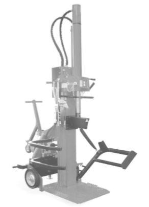 Spaccalegna verticale trainabile super-professionale VSD 43/18 N