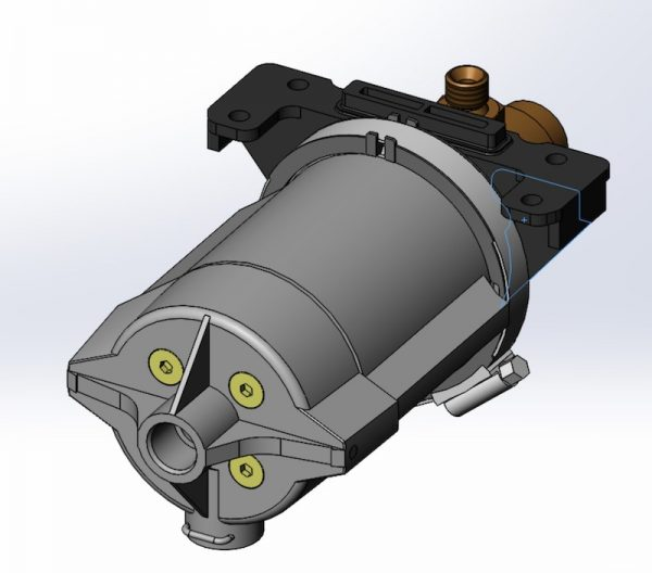 motore pneumoidrico UPW250-H2O