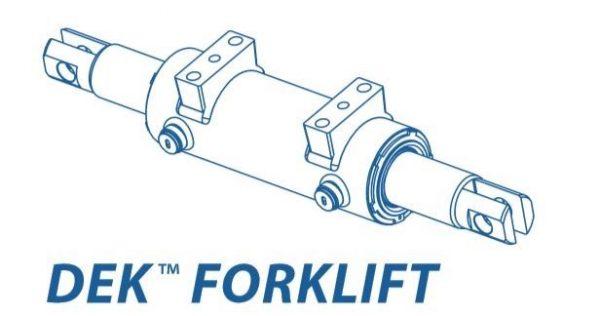Cilindro idraulico di sterzo a forcella serie DEKF
